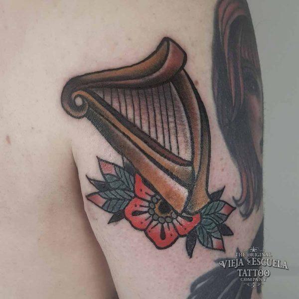 tattoo valencia arpa