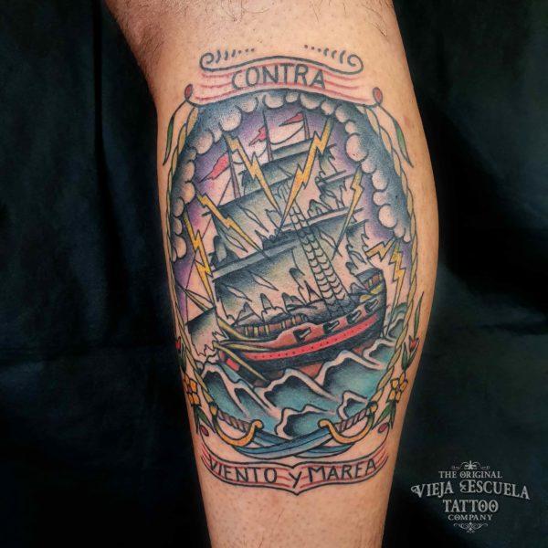 tatuaje valencia barco